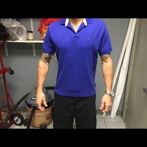 Tommy Hilfiger polo shirt size small royal blue